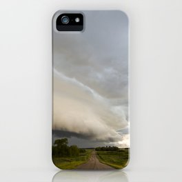 Shelf Cloud Over Country Road 1 iPhone Case