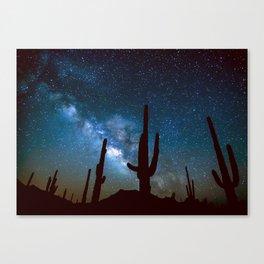 Milky Way Cacti Canvas Print