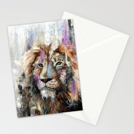 Remember Who You Are - Abstract Lion Painting Stationery Cards