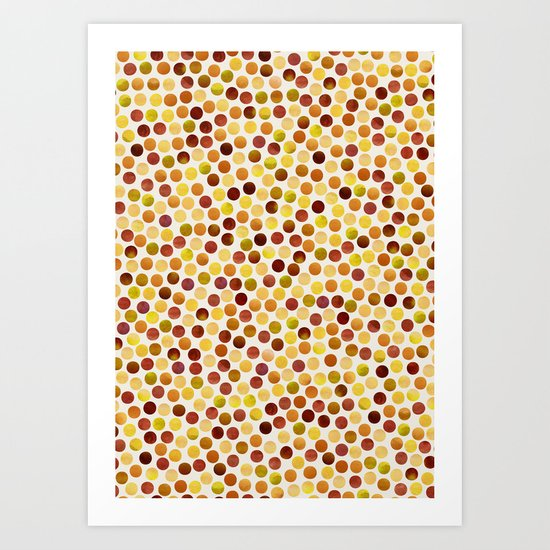 Watercolor Dots_Amber Art Print
