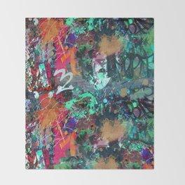 Graffiti and Paint Splatter Throw Blanket