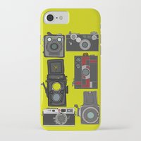 cameras iPhone & iPod Cases featuring Cameras by Illustrated by Jenny