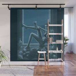 Tracy Queen: Royal Blues Wall Mural