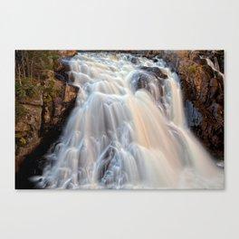 Chutes du Diable Waterfall Canvas Print
