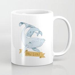 Big Love (gold and blue) Humpback Whales Coffee Mug