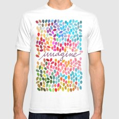 Imagine [Collaboration with Garima Dhawan] Mens Fitted Tee MEDIUM White