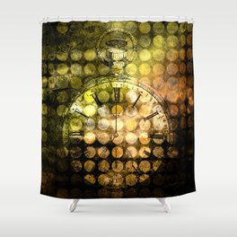 MELANGE WITH A CLOCK Shower Curtain