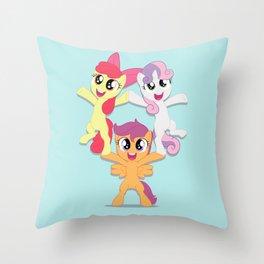Can Do Cutie Mark Crusaders Throw Pillow
