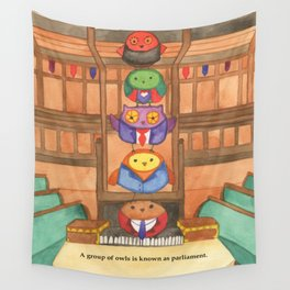 Owl Parliament Wall Tapestry