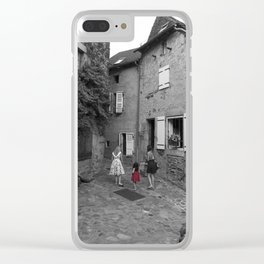 The red dress Clear iPhone Case
