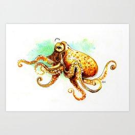 Octopuss Watercolor sketch Art Print