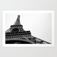 eiffel Art Prints featuring Eiffel by Angel Durán