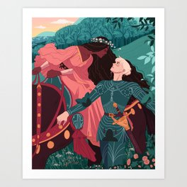The Beautiful Lady Without Mercy  Art Print