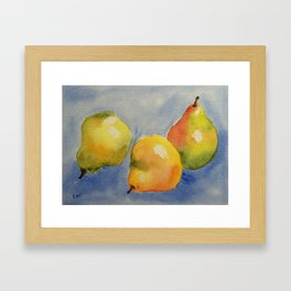 Pear Trio Framed Art Print