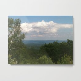 Clouds Over the Mountains Metal Print