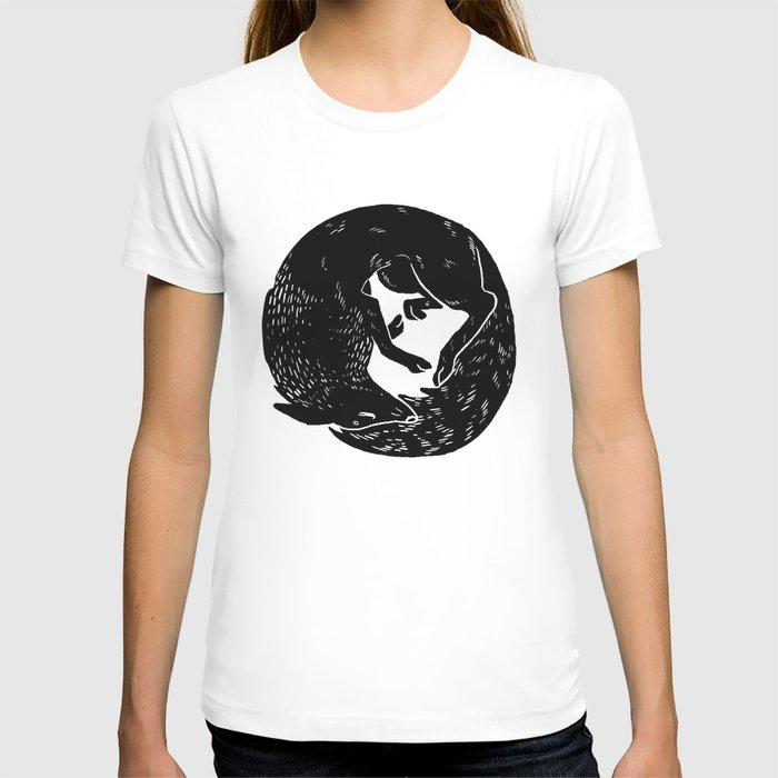 black and white thoughts T-shirt