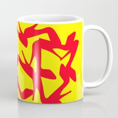 Shoe Fetish (Version 2) in Red and Yellow by Bruce Gray Coffee Mug