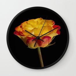 Bold and Beautiful Rose Blossom Wall Clock