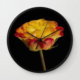 Bold and Beautiful Rose Blossom Wall Clock