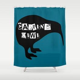 KIWI Carping Kiwi Shower Curtain