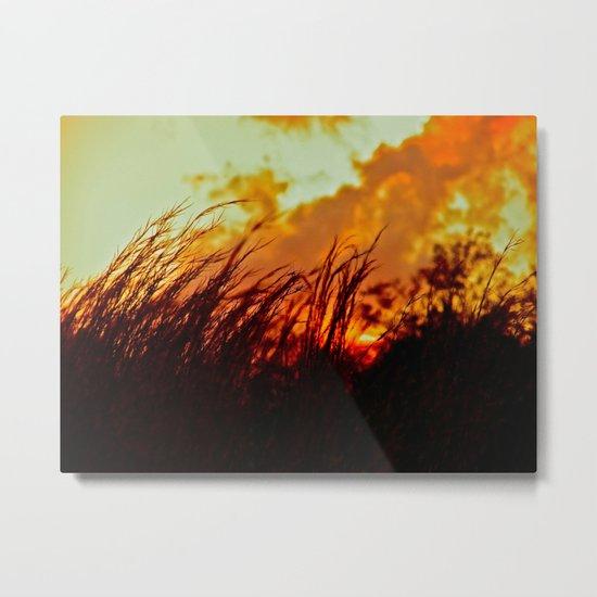 Sunset Brings the Wind Metal Print