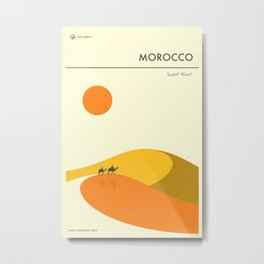 MOROCCO TRAVEL POSTER Metal Print