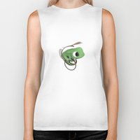 frog Biker Tanks featuring Frog by Flewn