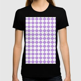 Diamonds - White and Light Violet T-shirt