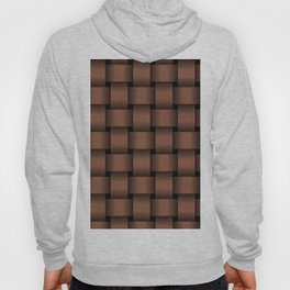 Large Dark Brown Weave Hoody