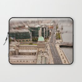 Dublin city center aerial view Laptop Sleeve