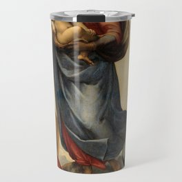 The Sistine Madonna Oil Painting by Raphael Travel Mug