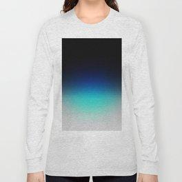 Blue Gray Black Ombre Long Sleeve T-shirt