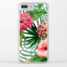 tropical hibiscus Clear iPhone Case