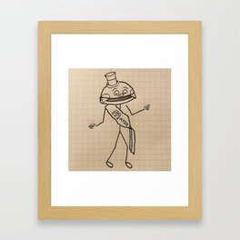 Mayor With Cheese - Stick Figure Style Framed Art Print