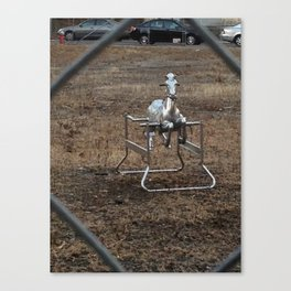 The Silver Hobby Horse 3 Canvas Print