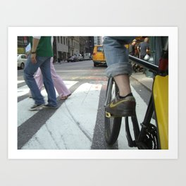 Bicycle New York Art Print