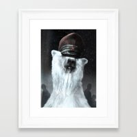 general Framed Art Prints featuring The General by Tom Alex Buch