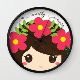 A Worthy Woman Wall Clock