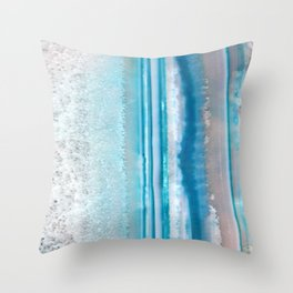 Teal Agate Throw Pillow