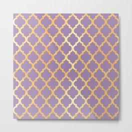 Moroccan Gold & Purple Metal Print