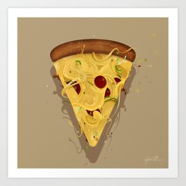 MADNESS PIZZA Art Print