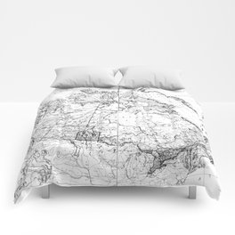 Vintage Map of Canada (1898) BW Comforters
