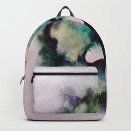Green Rose Watercolor Backpack