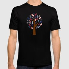 Striped Tree - Digital Work Mens Fitted Tee MEDIUM Black