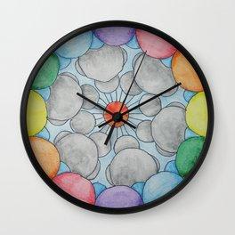 Interplanetary Elephants with Balloons Wall Clock