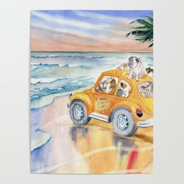 Dogs On Vacation Poster