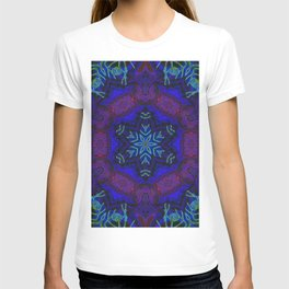 Bioluminescent Tribal Lotus T-shirt