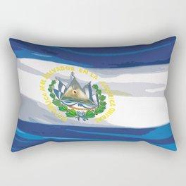El Salvador Fancy Flag Rectangular Pillow