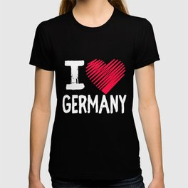 I Love Germany Europe Traveling Gift T-shirt