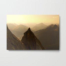 morning in mountain Metal Print